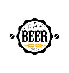 Craft beer round logo design template vector