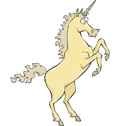 unicorn rear hoof vector image