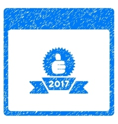 2017 award ribbon calendar page grainy texture vector