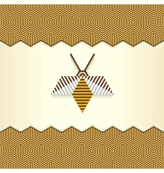 Abstract geometrical bee vector
