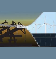 Change to renewable energy eco-concept vector