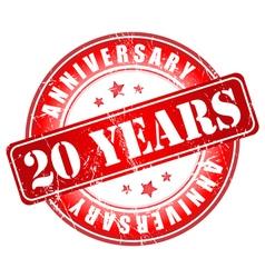 20 years anniversary stamp vector