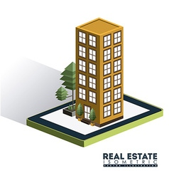 Isometric real estate design vector