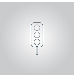 Traffic lights icon vector