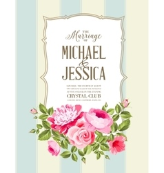 The Wedding Card vector image