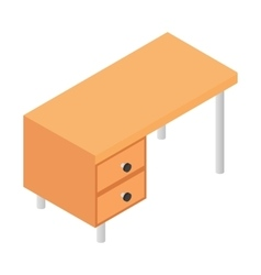 Office table isometric 3d icon vector