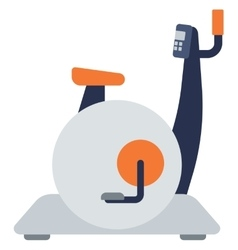 Stationary exercise bike vector