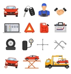 Car service set icons vector