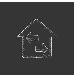 Property resale Drawn in chalk icon vector image