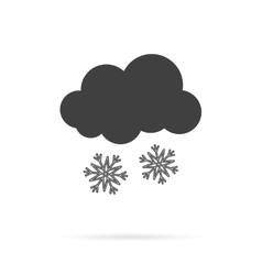 Cloud and Snow Grey Icon vector image
