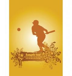 baseball poster2 vector image