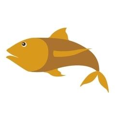 Colorufl silhouette with sea fish yellow vector