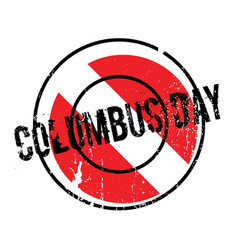 Columbus day rubber stamp vector