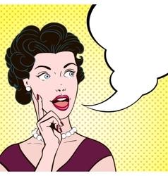 Comics Woman Cartoon Portrait vector image vector image