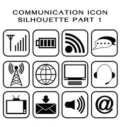 Communication icon part 1 vector image