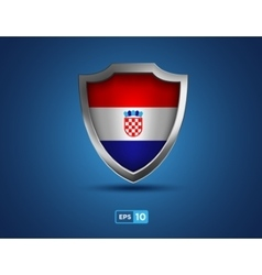 Croatia shield on the blue background vector