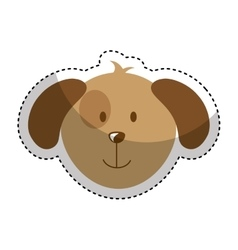 cute dog mascot head isolated icon vector image