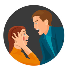 Domestic violence between married couple that has vector