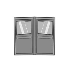 Double door for restaurant icon monochrome style vector image vector image