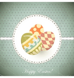 easter eggs - old postcard in vintage style - vector image vector image