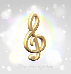 Festive treble clef awards vector image vector image