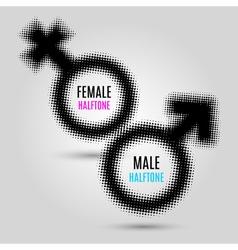 Gender halftone symbols vector