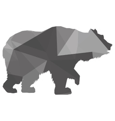 Geometric texture bear silhouette icon vector