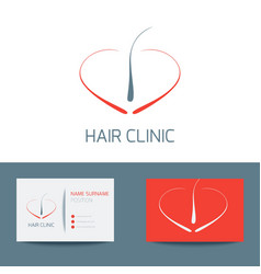 Hair clinic business card vector image vector image