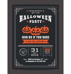 Halloween night party invitation card poster flyer vector image vector image