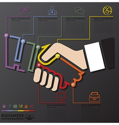 Hand shake connection timeline business vector