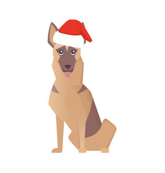 Newyear happy dog icon christmas cartoon vector