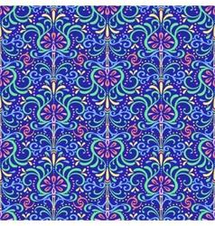 Pattern Oriental Flowers vector image vector image