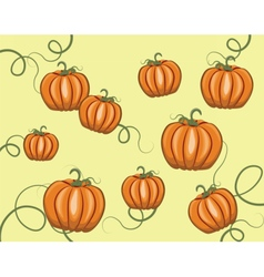 Pumpkins pattern background vector