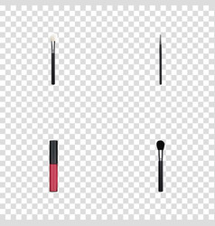Realistic cosmetic stick liquid lipstick beauty vector
