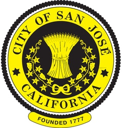 San Jose City Seal vector image vector image