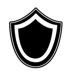 Silhouette shield security protection symbol vector