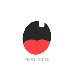 simple first tooth icon vector image