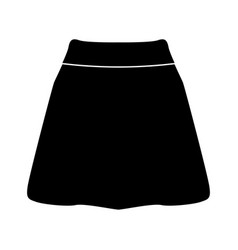 skirt black color icon vector image vector image