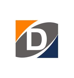 Success solution letter d vector