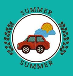 summer vacations icon vector image vector image