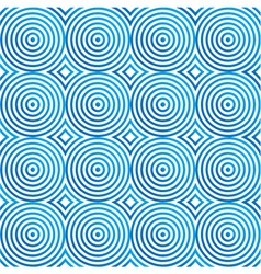 Seamless blue circles pattern vector