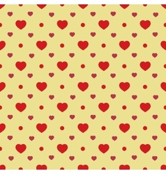 Heart and circle seamless pattern vector image