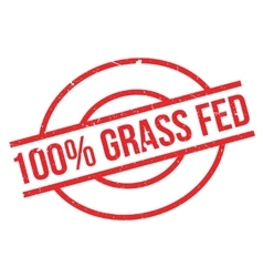 100 percent grass fed rubber stamp vector