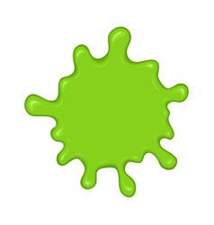 Green slime splash blot vector