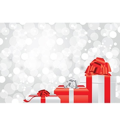 White christmas background gifts vector