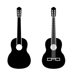 Guitar black color icon vector