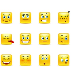 Smileys with emotions vector