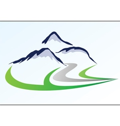 Mountain logo 6 vector