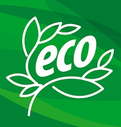 Abstract eco logo in the form of plants vector