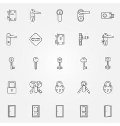 Door lock icons vector